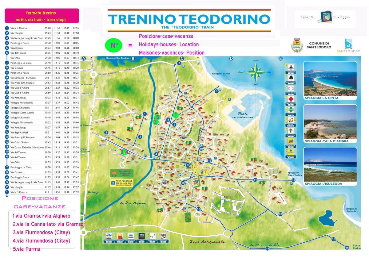 Cartina Sardegna Budoni